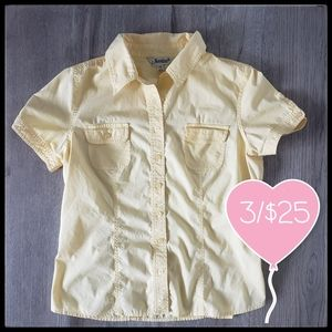 ⭐3/$25⭐Jessica Short Sleeve Button Down Top